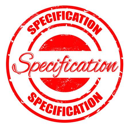 specification: specification grunge stamp illustration Illustration