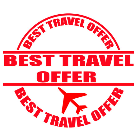 best travel offer grunge stamp with on vector ollustration Vector