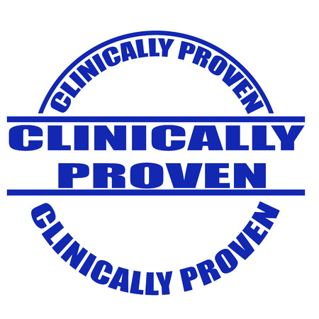 clinically: clinicamente dimostrato timbro grunge Vettoriali