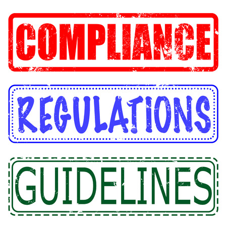 compliance: compliance, regulations, guidelines set grunge stamp