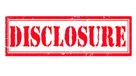 disclosure: disclosure grunge stamp  Illustration