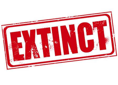 extinct: extinct grunge stamp