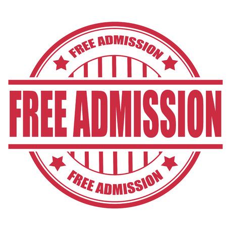free admission label stamp