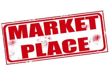 market place grunge stamp