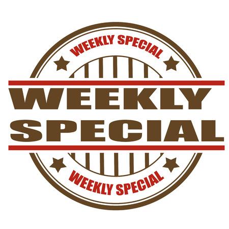 weekly: weekly special grunge stamp