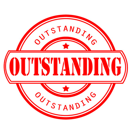 outstanding: outstanding grunge stamp