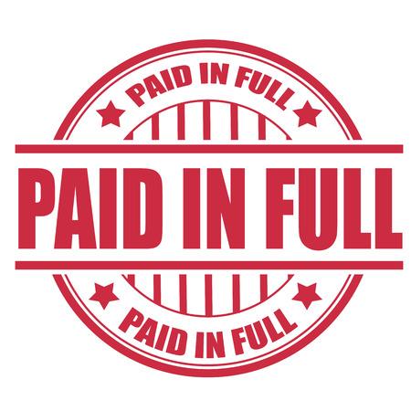 lleno: pagado en sello full grunge