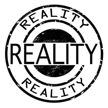 reality grunge stamp