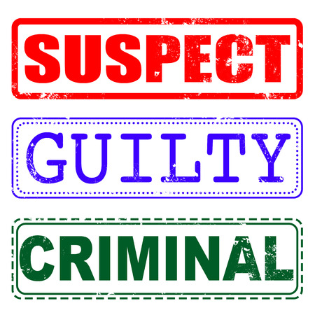 suspect: suspect, guilty, criminal grunge stamp with on vector illustration
