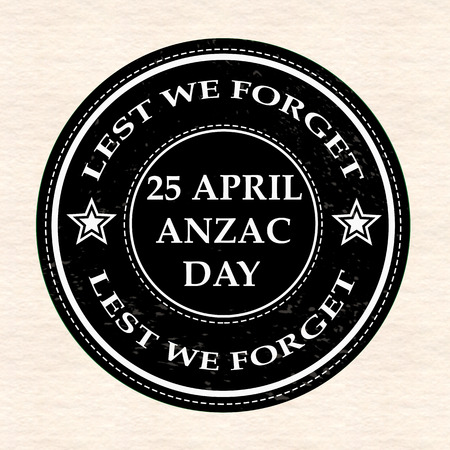 april anzac day grunge stamp with on vector illustration