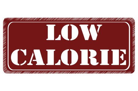 low calorie grunge stamp with on vector illustration