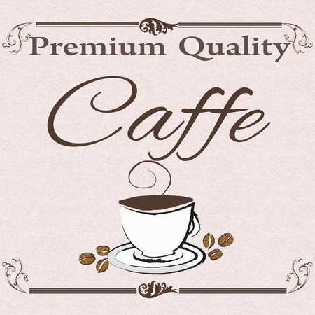 caffe: premium quality caffe background with on vector illustration