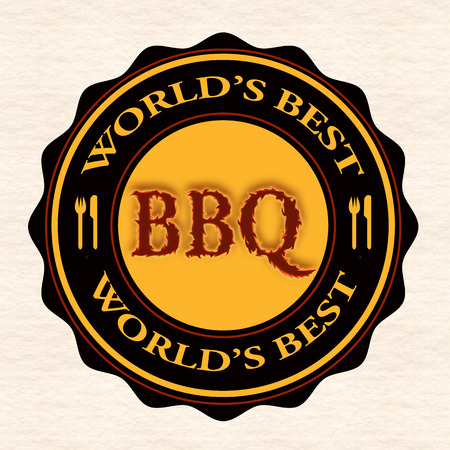 worlds best bbq grunge stamp with on vector illustration Vector
