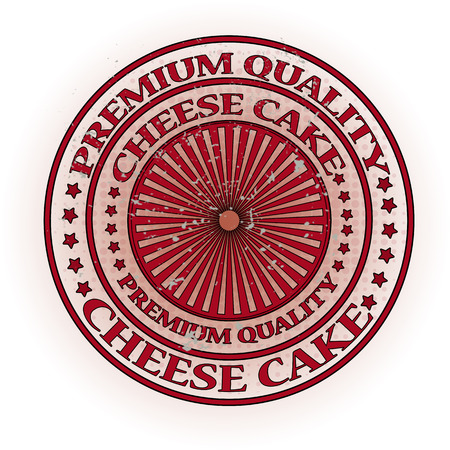 cheese cake: premium quality cheese cake stamp with grunge vector illustration on