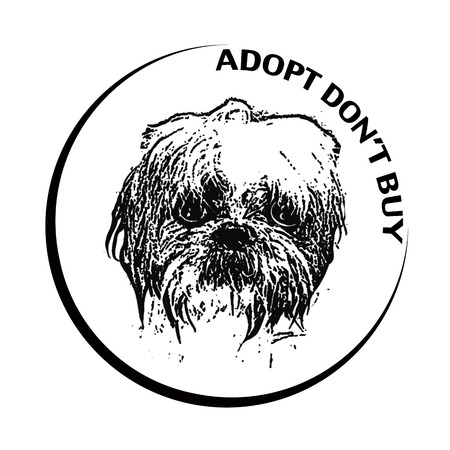 adopt don't buy grunge stamp with on vector illustrtation