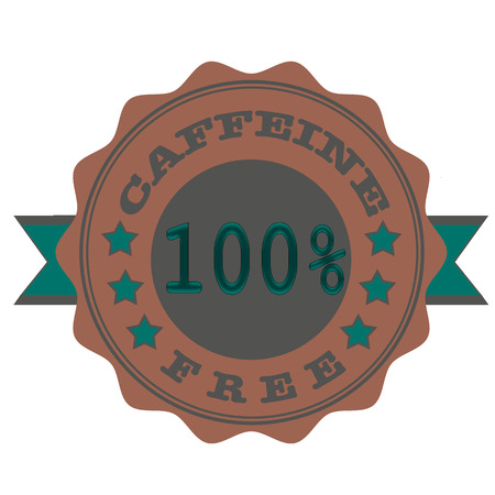 caffeine free: caffeine free gruge stamp with on vector illustration