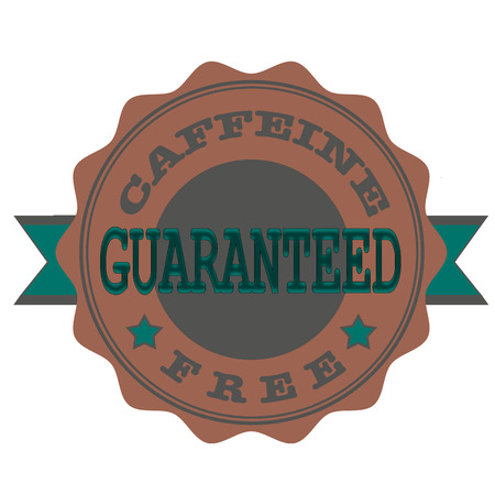 caffeine free: caffeine free guaranteed grunge stamp with on vector illustration