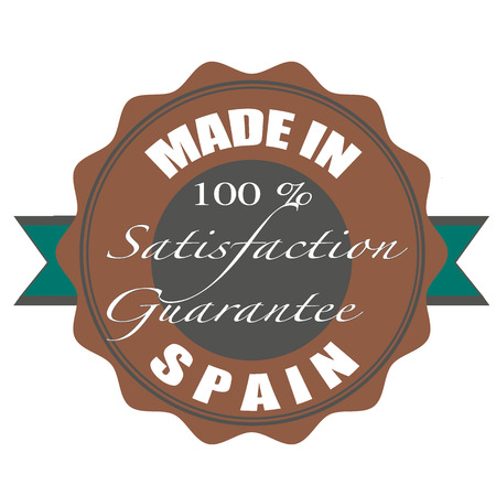 made in spain stamp with grunge vector illustration on