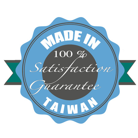 made in taiwan stamp with grunge vector illustration on Vector