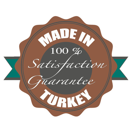 made in turkey stamp with grunge vector illustration on Vector