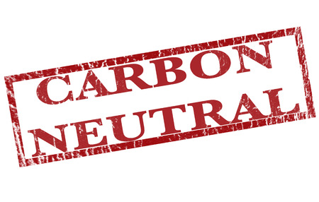 carbon neutral: carbon neutral grunge stamp with on vector illustration