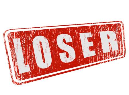 loser: loser on grunge stamp with vector illustration Illustration