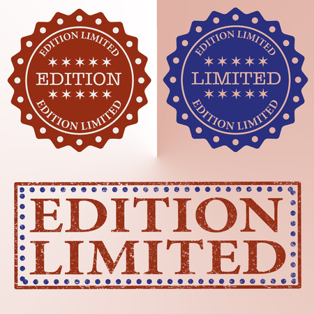 edition: September spamp limited edition stamp with grunge vector illustration Illustration