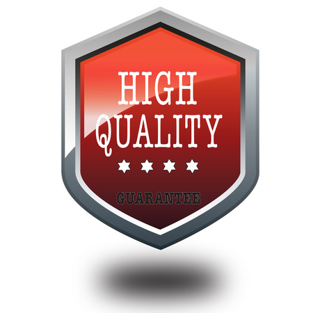 promised: red metallic sing with high quality vector illustration