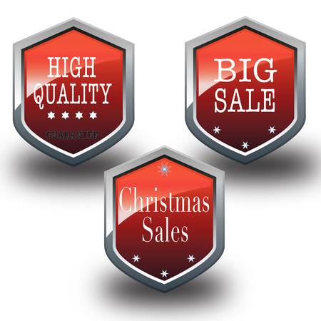 promised: red metallic salt huge big sale christmas sale sing with vector illustration Illustration