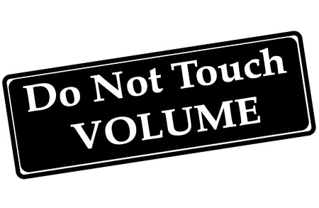 touch: do not touch volume grunge stamp with on vector illustration