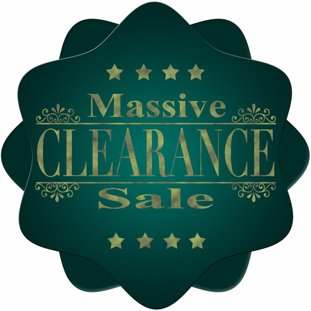 massive: abstract label with text massive clearance sale
