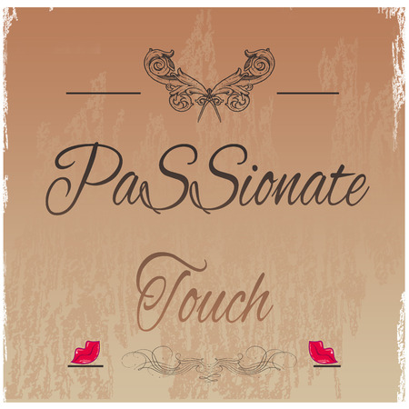 passionate: background with text passionate touch