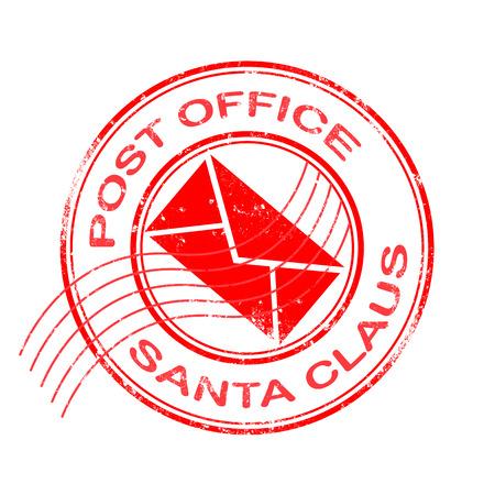 znaczek pocztowy biurowy z Santa Claus na grunge ilustracji wektorowych Ilustracje wektorowe