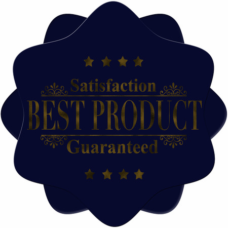 satisfaction guaranteed: abstract label best product satisfaction guaranteed