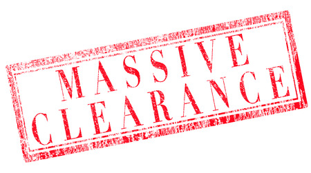 massive: grunge stamp with text massive clearance on vector illustration Illustration