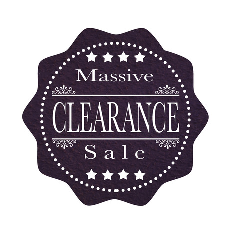 massive: label stamp with text massive clearance sale on vector illustration