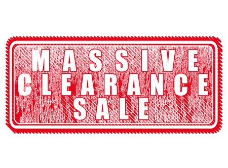 massive: grunge stamp with text massive clearance sale on vector illustratio Illustration