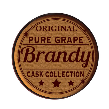 brandy: Label stamp with text Brandy on vecto rillustration Illustration