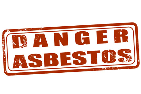 asbestos: Grunge stamp with text Danger asbestos on vector illustration
