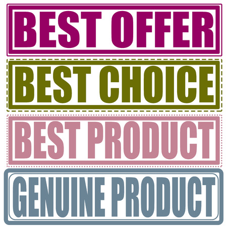 best product: September stamp with text Best offer, best choice, best product, genuine product on illustration