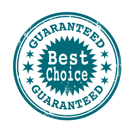 grunge stamp with text best choice guaranteed on vector illustration Illustration