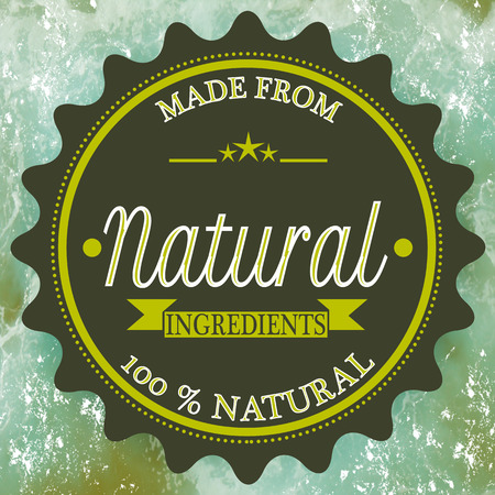 background stamp with text made from natural ingredients on vector illustration Vector Illustration