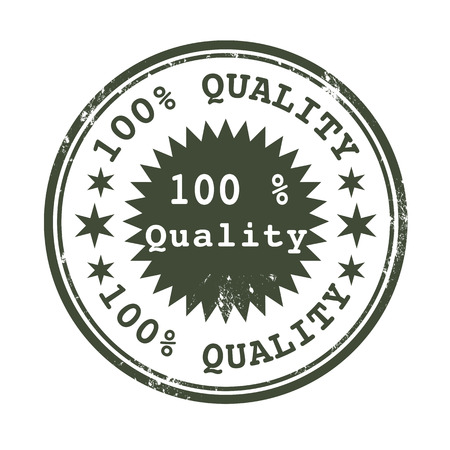 grunge stamp with text percent on quality vector illustration Illustration