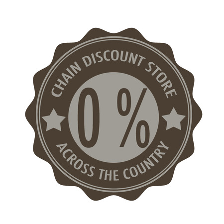 label stamp with text chain discount store, across the country on vector illustration