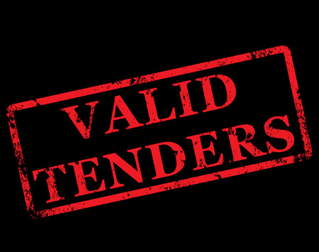 tender's: grunge stamp with text valid tenders on vector illustration