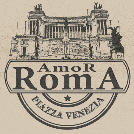 amor: background with text amor roma on vector illustration