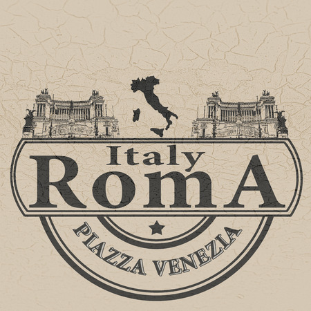 background with text on italy rome vector illustration