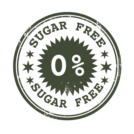 illustraion: grunge stamp with text on sugar free vector illustraion Illustration