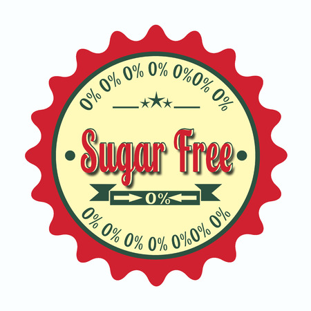 label stamp with text on sugar free vector illustration Illustration