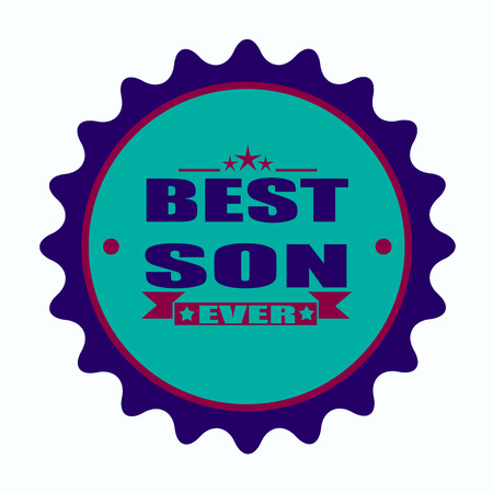 label stamp with text best son ever on vector illustration Illustration